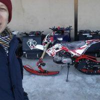 Гусеничный комплект для мотоцикла питбайка_сноубайк_5