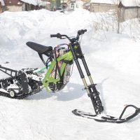 Surron snowbike_electric snowbike_sur ron snowbike kit_гусеница на суррон_surron гусеничный комплект_1