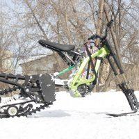 Surron snowbike_electric snowbike_sur ron snowbike kit_гусеница на суррон_surron гусеничный комплект_3