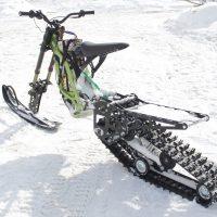 Surron snowbike_electric snowbike_sur ron snowbike kit_гусеница на суррон_surron гусеничный комплект_9