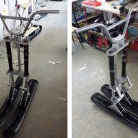 Двух лыжный модуль на мотоцикл питбайк_питбайк с двумя лыжами_лыжи для мотоцикла_лыжи на питбайк_10