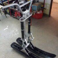 Двух лыжный модуль на мотоцикл питбайк_питбайк с двумя лыжами_лыжи для мотоцикла_лыжи на питбайк_11