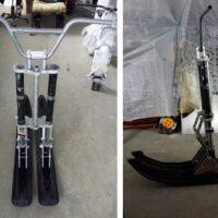 Двух лыжный модуль на мотоцикл питбайк_питбайк с двумя лыжами_лыжи для мотоцикла_лыжи на питбайк_5