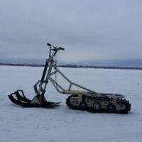 Двух лыжный модуль на мотоцикл питбайк_питбайк с двумя лыжами_лыжи для мотоцикла_лыжи на питбайк_6