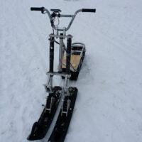 Двух лыжный модуль на мотоцикл питбайк_питбайк с двумя лыжами_лыжи для мотоцикла_лыжи на питбайк_8